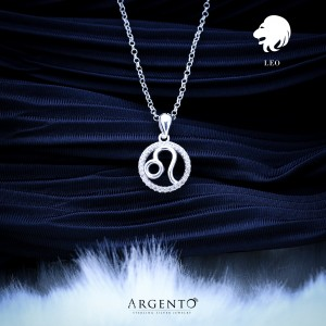 Zodiac Sign Leo 925 Silver Necklace 18inches