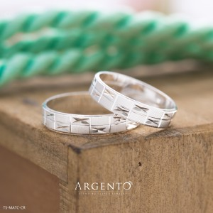 Matchbox 925 Silver Couple Rings by Argento