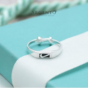 Niko 925 Silver Adjustable Ring for Kids