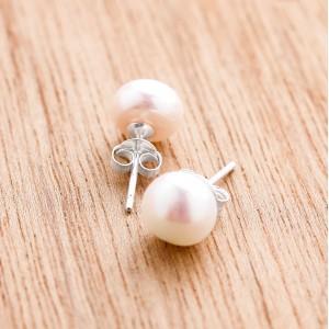 Racelia Pearl Earrings with 925 Silver Casing