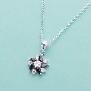 Rosanna Black Flower Necklace