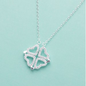 Sakura Heart 2-in-1 Necklace by Argento 925 Silver