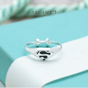 Superman Ring for Kids 925 Silver by Argento (Adjustable)