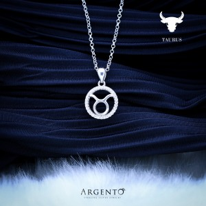 Zodiac Sign Taurus 925 Silver Necklace 18inches