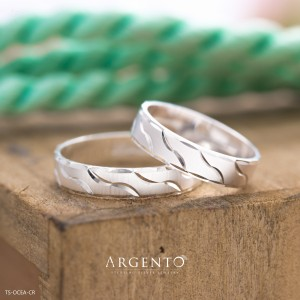 Ocean Deep 925 Silver Couple Rings by Argento