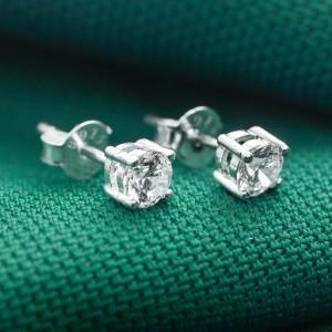 Yuri Round 925 Silver Stud Earrings