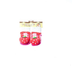 Infant Socks with Strawberry Design