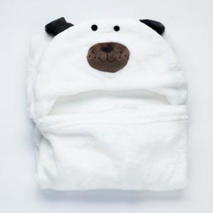 White Dog Towel