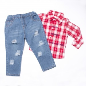 SWAGGER #01 Polo and Tattered Jeans Set