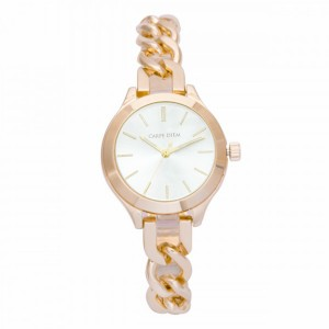 Cadence Gold with white face Carpe Diem Watch