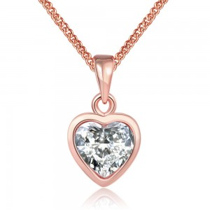Carolina Heart Rose Gold Plated Necklace
