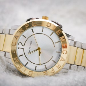 Prudence Dual Tone (Gold and Silver) Watch by Carpe Diem
