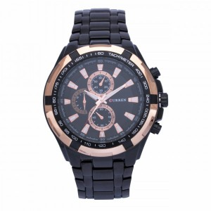 Newton Bronze with Black Strap (Black)