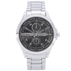 Darren Metal Watch (Black Face) by Curren