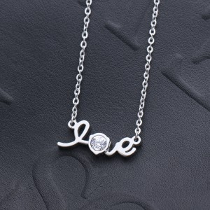 Intimate Love '316L Stainless Steel Silver Necklace
