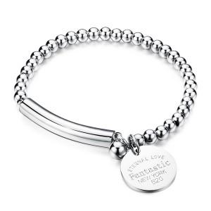 Medea '316L Stainless Steel Silver Bracelet