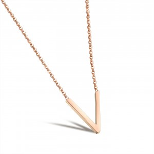 Veronica '316L Stainless Steel Rosegold Necklace