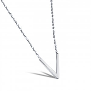 Veronica '316L Stainless Steel Silver Necklace