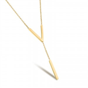 Vivere '316L Stainless Steel Gold Necklace