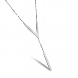 Vivere '316L Stainless Steel Silver Necklace