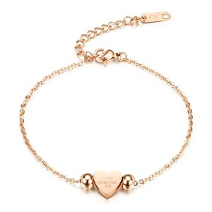 Hestia '316L Stainless Steel Rose Gold Bracelet