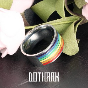 Rhasta Multi-Colored Stripes Ring