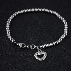 Iris 316L Stainless Steel Silver Bracelet