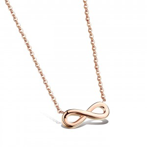Infinity '316L Stainless Steel Rosegold Necklace