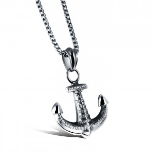Halibut Anchor Necklace