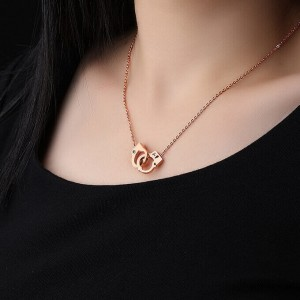 Handcuff '316L Stainless Steel Rosegold Necklace