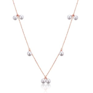 Ivory Pearl '316L Stainless Steel Rosegold Necklace