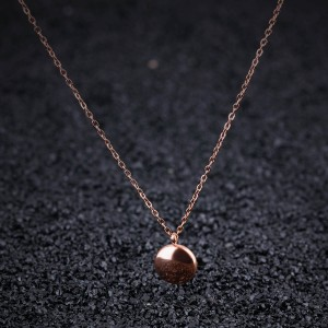 Minerva Goddess '316L Stainless Steel Rosegold Necklace