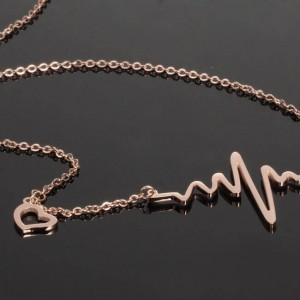 Lifeline '316L Stainless Steel Rosegold Necklace
