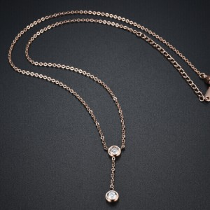 Esfer '316L Stainless Steel Rosegold Necklace