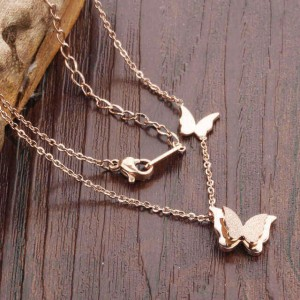 Amaya '316L Stainless Steel Rosegold Necklace