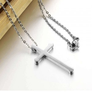 Bishop '316L Stainless Steel Silver Necklace