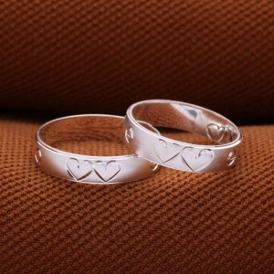 Twin Hearts Couple Ring