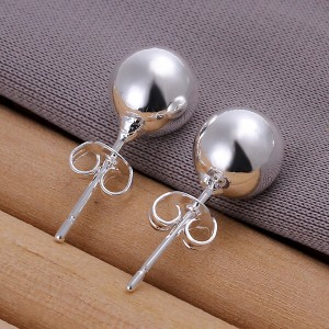 Jamaica Round 925 Silver Plated Earrings