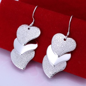 Deborah Triple Heart Dangling Earrings