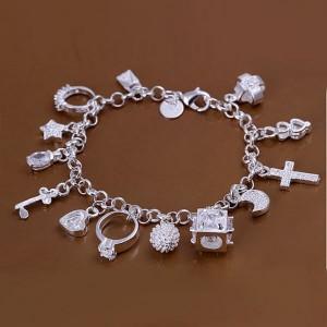 Zena Charmed 925 Silver Plated Bracelet