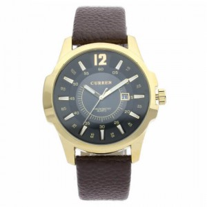 Nicolas Brown Leather Watch