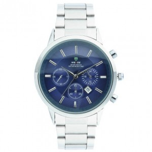 Vladimir Stainless Steel Silver Watch with Blue Face