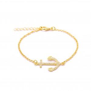 Nami Anchor 18k Gold Plated Bracelet