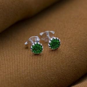 Peridot Birthstone for August 925 Silver Earrings