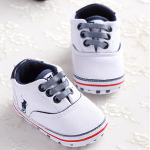 Ralph Polo with Strap Pre-walker Shoes (White)