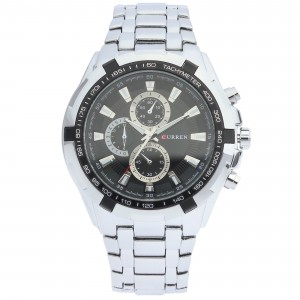 Reagan Stainless Steel Watch by Curren 40mm