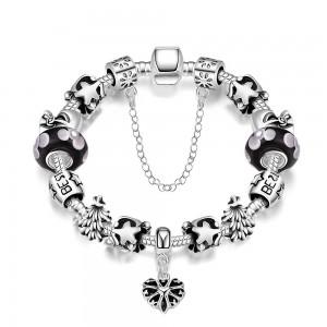 Pandora Charcoal Black Bracelet Silver Plated