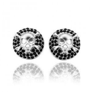 Avril Earrings Black and Silver