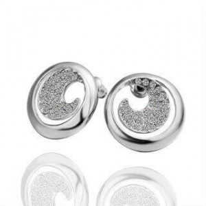 Caroline White Gold Earrings