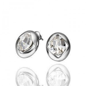 Coleen White Gold Plated Earrings